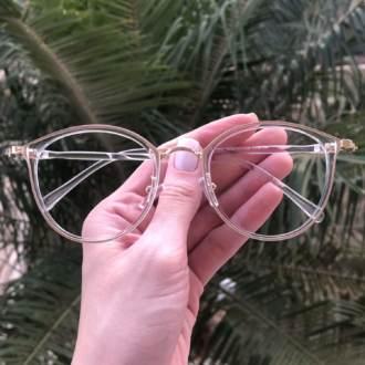 safine com br oculos de grau redondo azul transparente bru