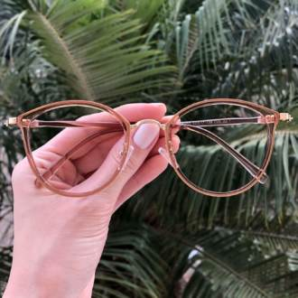 safine com br oculos de grau redondo marrom transparente bru