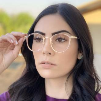 safine com br oculos de grau redondo rose bru 1