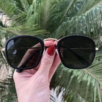 safine com br oculos de sol quadrado preto fosco luiza 3