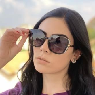 safine com br oculos de sol quadrado preto fosco renata 1
