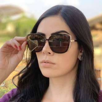 safine com br oculos de sol quadrado tartaruga renata