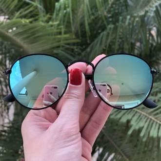 safine com br oculos de sol redondo espelhado laura
