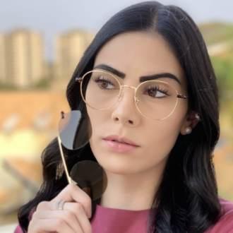 safine com br oculos 2 em 1 redondo dourado com marrom mila 4