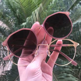 safine com br oculos 2 em 1 redondo dourado com nude nora 3