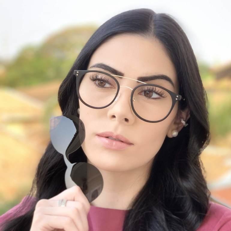 safine com br oculos 2 em 1 redondo dourado com preto babi 1