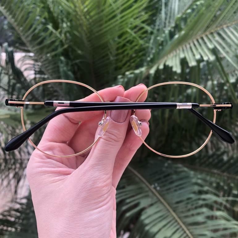 safine com br oculos 2 em 1 redondo dourado com preto mila 2