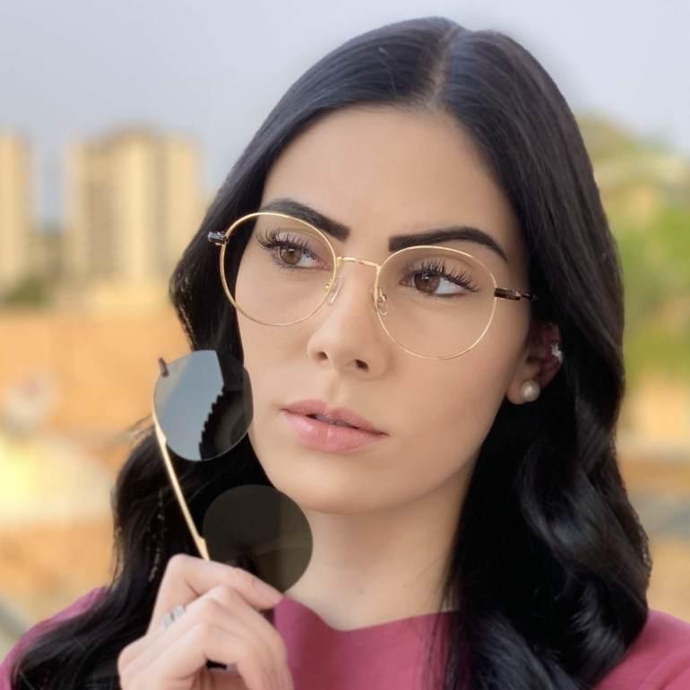 safine com br oculos 2 em 1 redondo dourado com preto mila 3