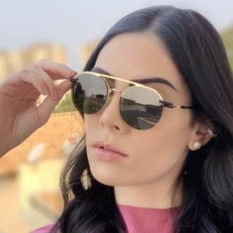 safine com br oculos 2 em 1 redondo dourado com preto mila 5