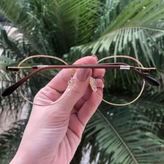 safine com br oculos 2 em 1 redondo dourado com verde mila 2