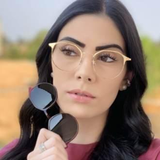 safine com br oculos 2 em 1 redondo dourado com vermelho nora 5