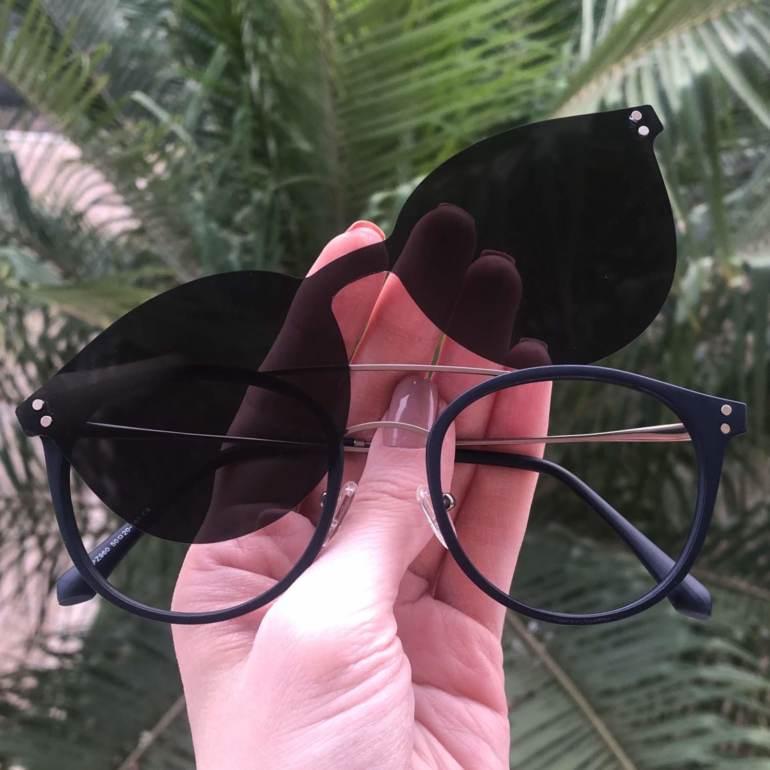 safine com br oculos 2 em 1 redondo grafite com azul babi 2