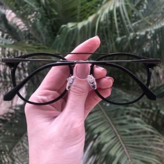 safine com br oculos 2 em 1 redondo grafite com preto babi 2