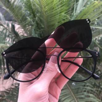 safine com br oculos 2 em 1 redondo grafite com preto babi