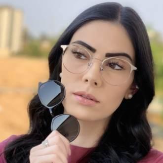 safine com br oculos 2 em 1 redondo grafite com preto nora 2