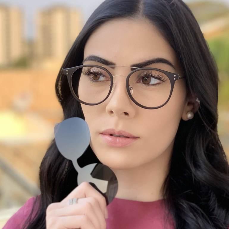 safine com br oculos 2 em 1 redondo prata com preto babi 1