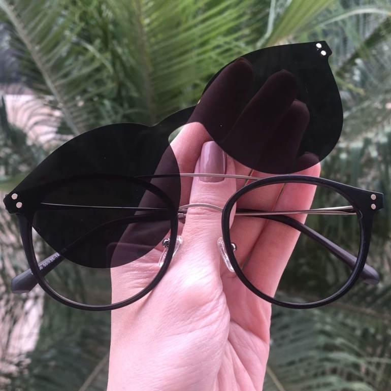 safine com br oculos 2 em 1 redondo prata com preto babi 2