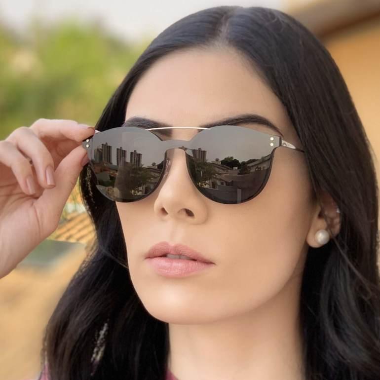 safine com br oculos 2 em 1 redondo prata com preto babi