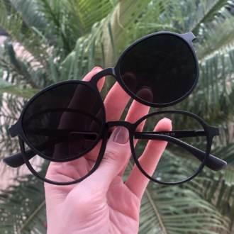 safine com br oculos 2 em 1 redondo preto fosco mari