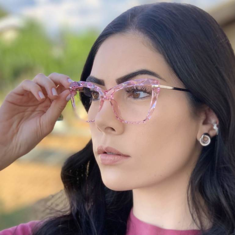 safine com br oculos de grau analice rosa