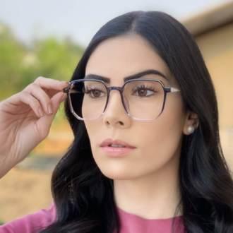 safine com br oculos de grau quadrado azul mage 1