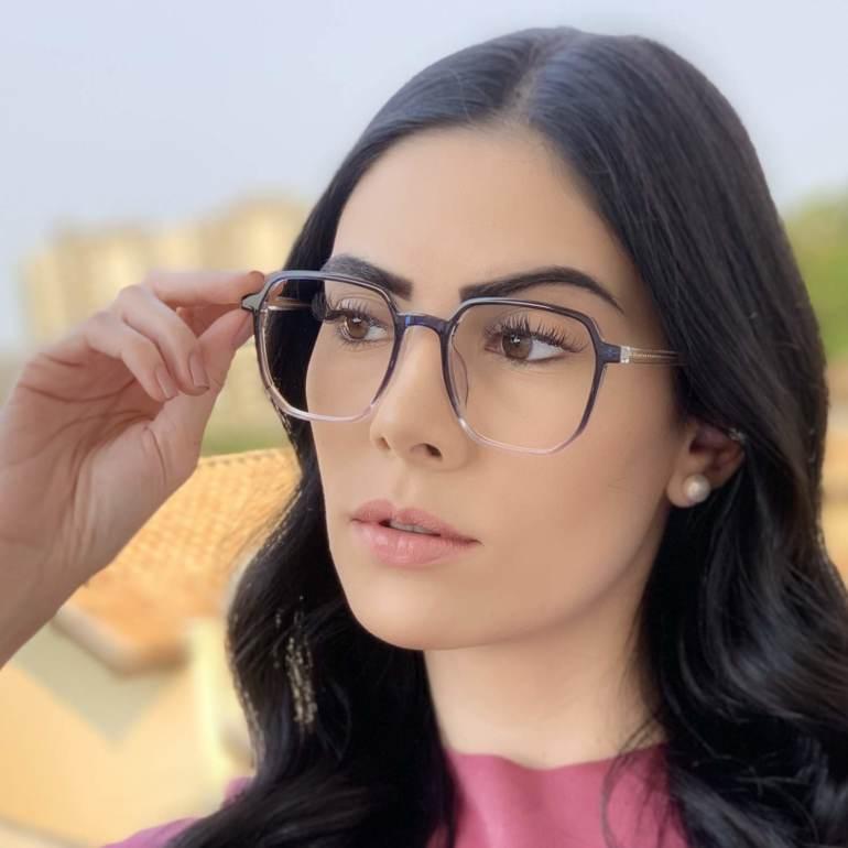safine com br oculos de grau quadrado azul mage 2