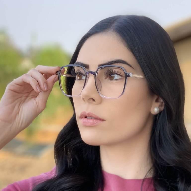 safine com br oculos de grau quadrado azul mage