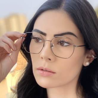 safine com br oculos de grau quadrado cinza carol 2