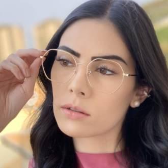 safine com br oculos de grau quadrado dourado carol 2