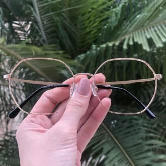safine com br oculos de grau quadrado dourado carol 3