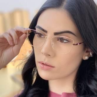safine com br oculos de grau quadrado dourado com marsala lea 2
