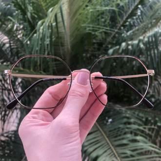 safine com br oculos de grau quadrado dourado com preto carol