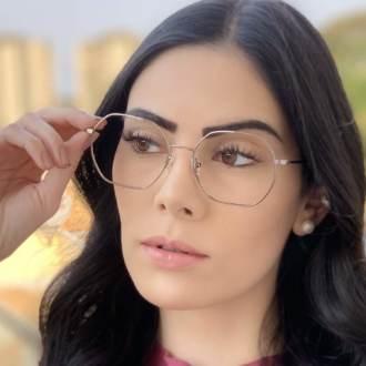 safine com br oculos de grau quadrado prata carol 2