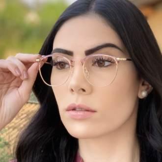 safine com br oculos de grau redondo rosa isa 1
