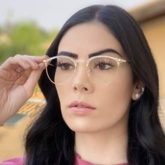 safine com br oculos de grau redondo transparente isa 1