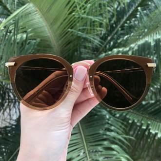 safine com br oculos de sol gatinho marrom lidi
