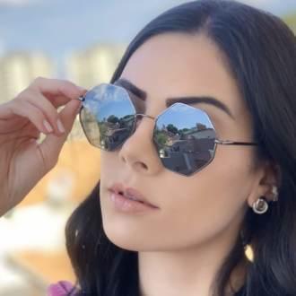 safine com br oculos de sol octagonal preto 3