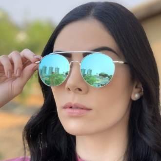 safine com br oculos de sol redondo espelhado azul lili 1