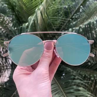 safine com br oculos de sol redondo espelhado azul lili 3