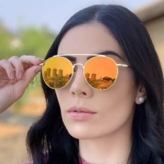 safine com br oculos de sol redondo espelhado laranja lili 2