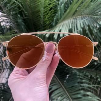 safine com br oculos de sol redondo espelhado laranja lili