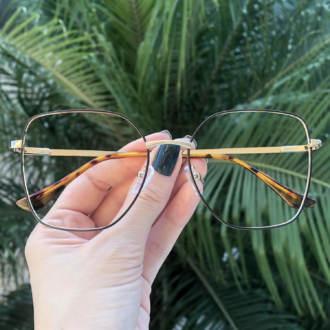 safine com br oculos de grau dourado com marrom carla