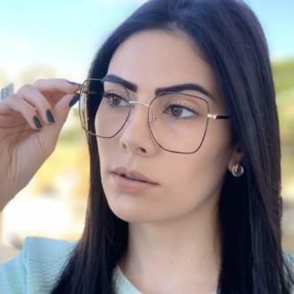safine com br oculos de grau dourado com marrom carla 4