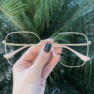 safine com br oculos de grau dourado com nude carla 1