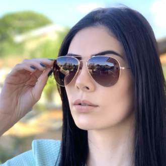 safine com br oculos de sol aviador marrom degrade isa 2