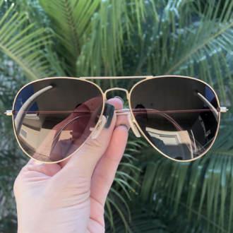 safine com br oculos de sol aviador marrom degrade isa