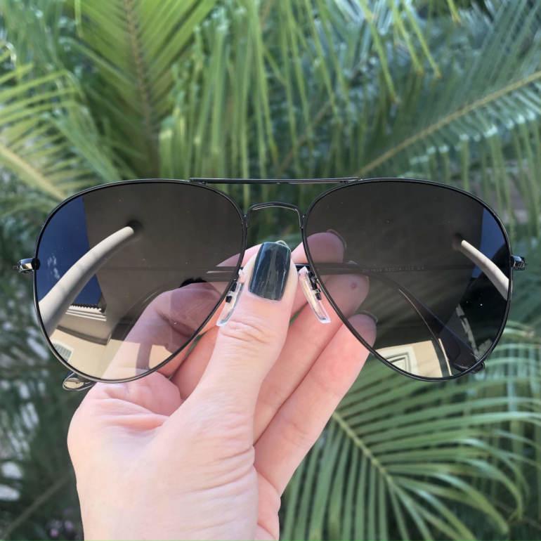 safine com br oculos de sol aviador preto degrade isa