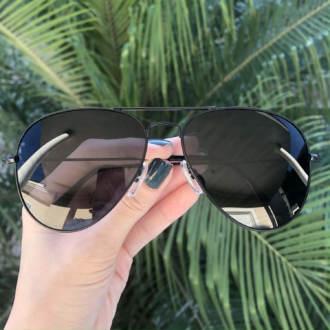 safine com br oculos de sol aviador preto isa