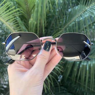 safine com br oculos de sol hexagonal preto degrade luci