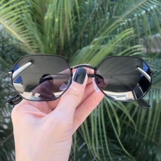 safine com br oculos de sol hexagonal preto luci